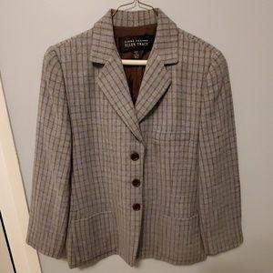 Ellen Tracy/Linda Allard Blue & Brown Wool Jacket